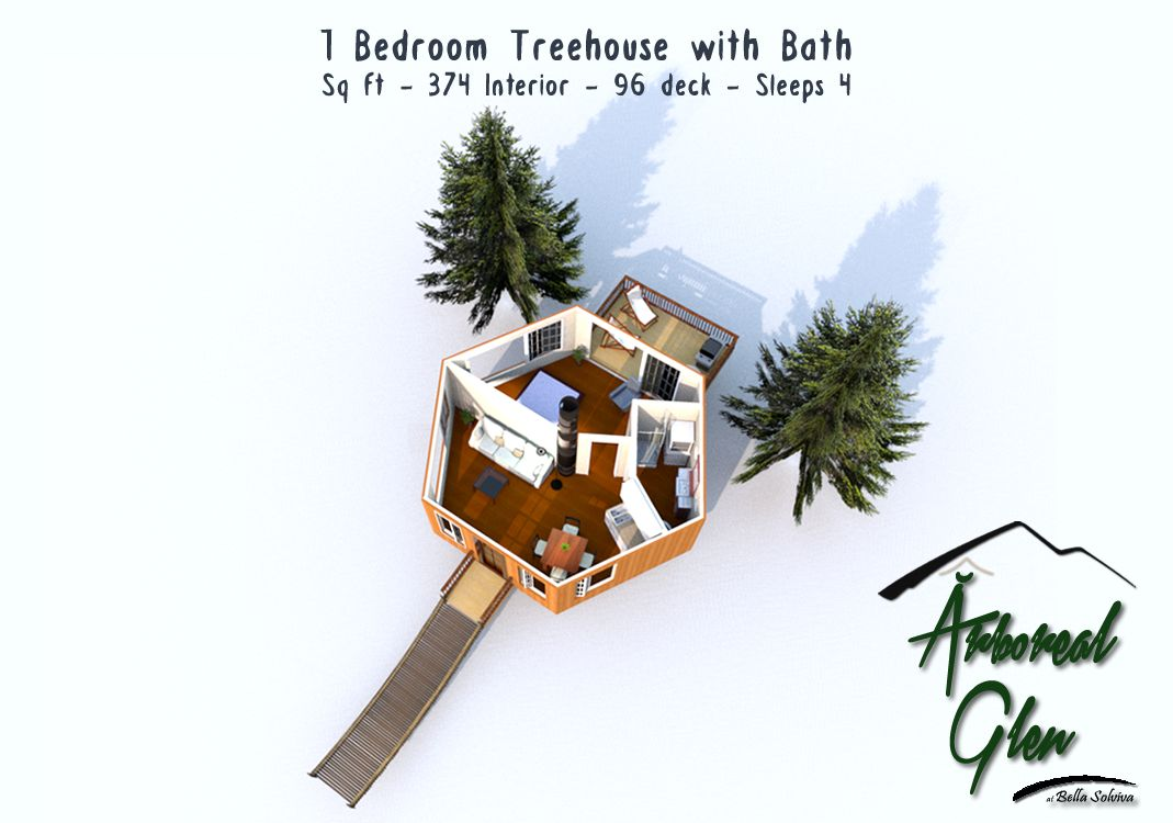 Tree House Floor Plans For Adults Throughout rboreal Glen Tree House Floor Plans Bella Solviva Michiganu0027s Comfy Glamping u0026 Camping Ecoresort